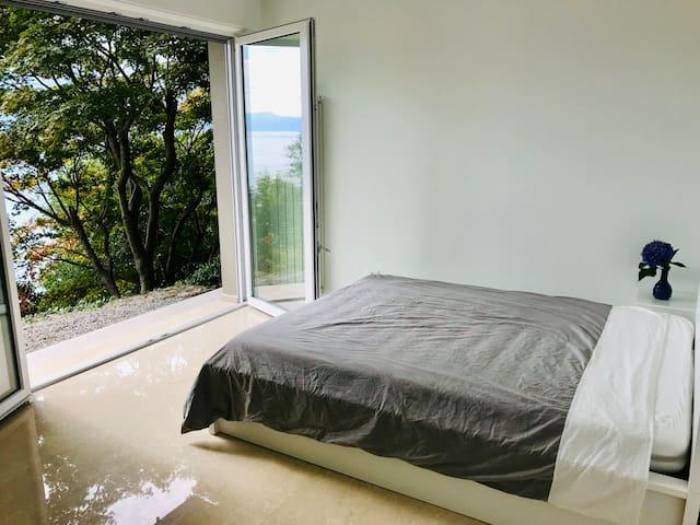 Schlafzimmer 3 mit Doppelbett - unten