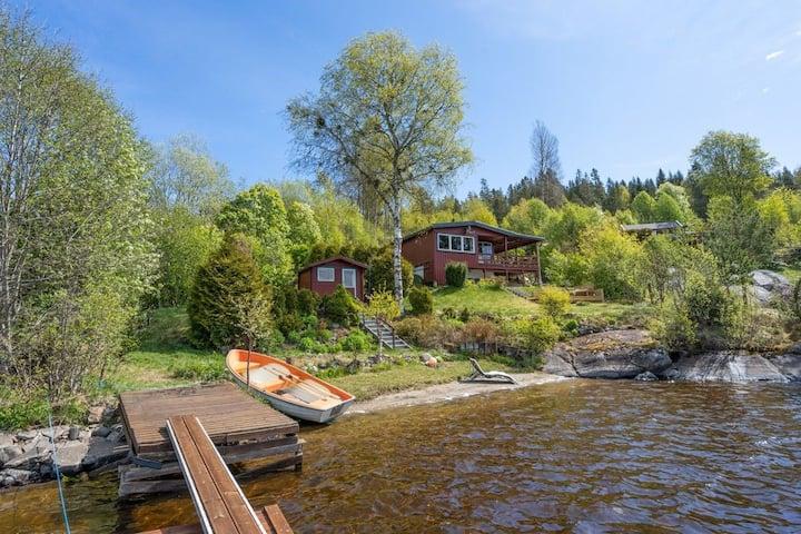 Hytteidyll 35 min fra Oslo med privat sandstrand
