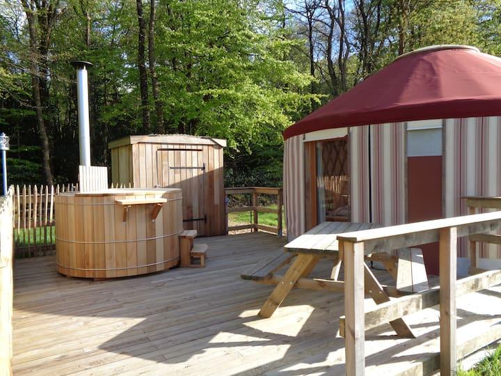 Glamping yurt Clyde Treuscoat