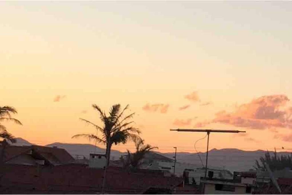 Vista privilegiada das suítes com espetacular por-do-sol!