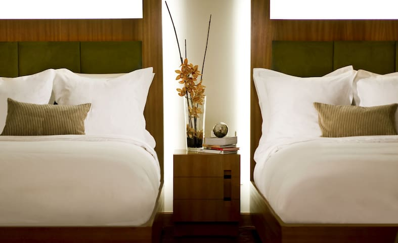 Room with Two Doubles Beds