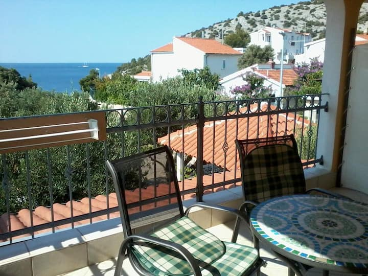 One bedroom apartment with terrace and sea view Ražanj, Rogoznica (A-12733-b)