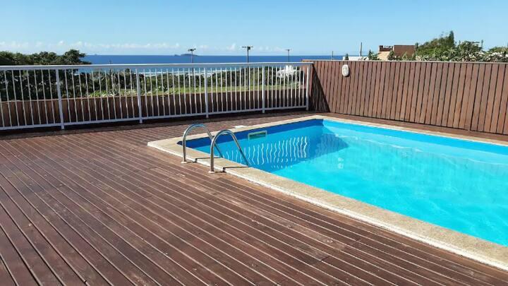 Apto novo praia da vila com piscina