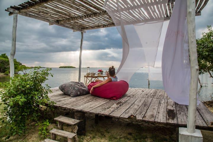 Eco friendly Wooden cabana in Kalpitiya