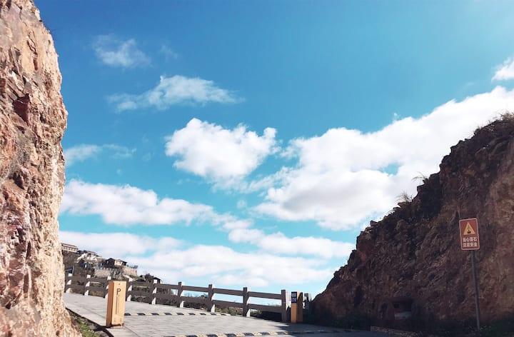 海上生明月【三楼海景大床房】海景阳台/近环海绿道&金沙滩&石塘石屋&彩虹房子