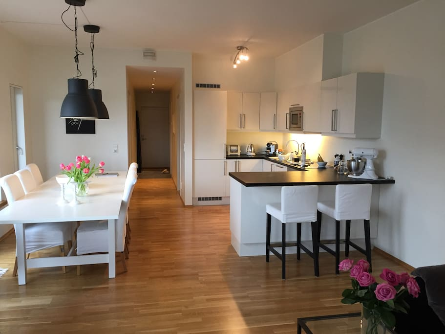 Kitchen + dining area up to 12 persons