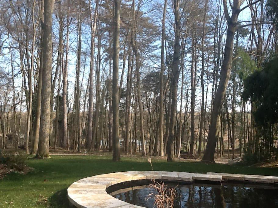 Parc paysager avec bassins d agrément