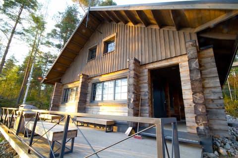 Finnish lakeside cottage