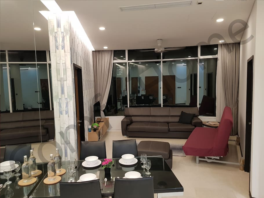 1 comfortable queen size sofa bed and couch are available in the living room