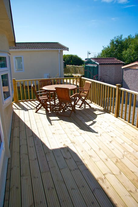 Large Decking area for relaxing in the sun.