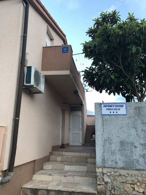 The apartment is located on second floor. First door on right side is Yellow apartment.