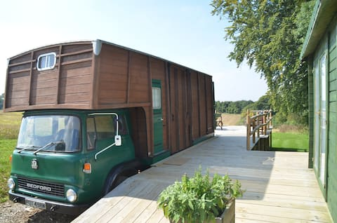 Betty the Bedford + Hot Tub!