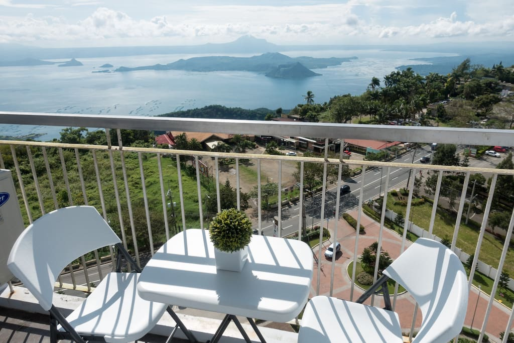 Studio Type Unit with Panoramic View of Taal @ Wind Residences