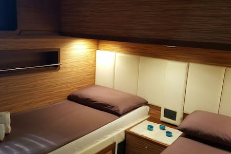 Charming Boat&bed BLUE III Private Twin-bed room - Boot