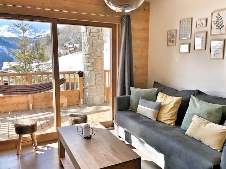 Sunny flat 4* Ski in/out La Plagne Champagny