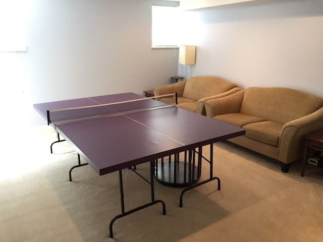 Play some ping pong in the shared rec room