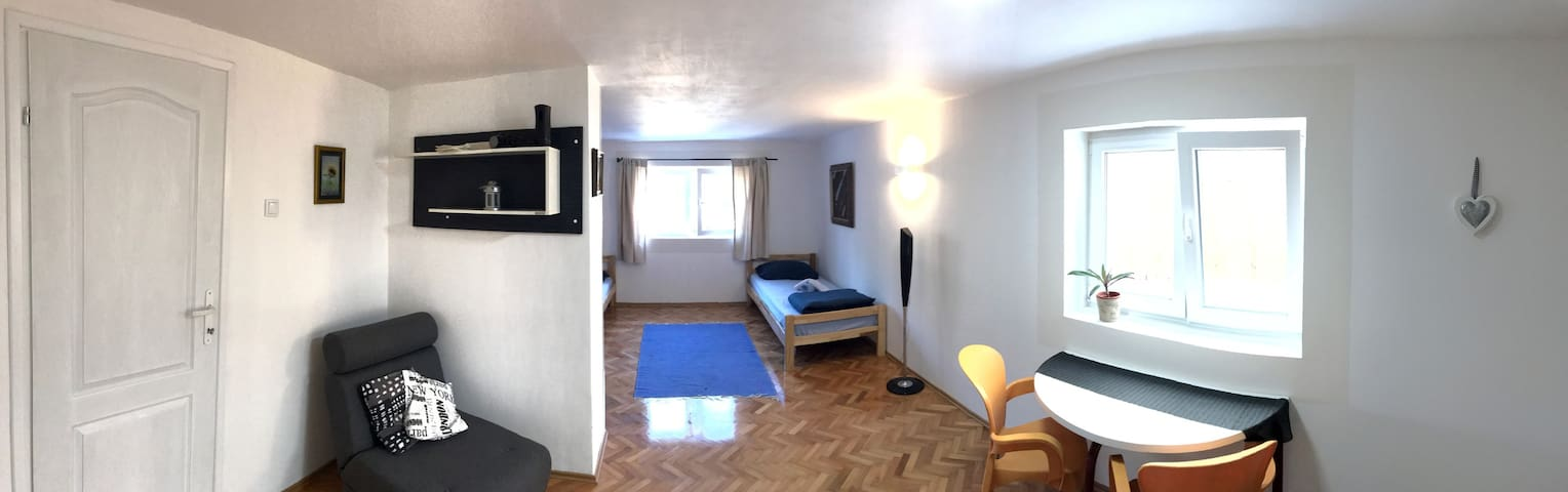 Studio 9 entire apartment + FREE wi-fi and parking