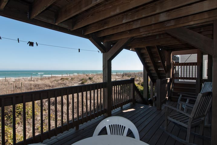 Parker #2-Inexpensive, oceanfront unit near the pier with spanning ocean views