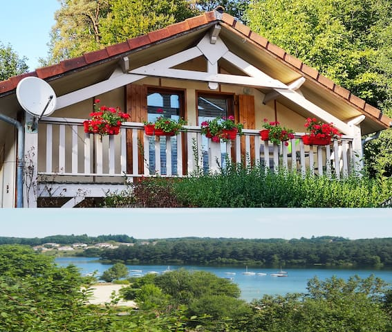 Chalet *** Cantal, lake-dam-fishing, boat