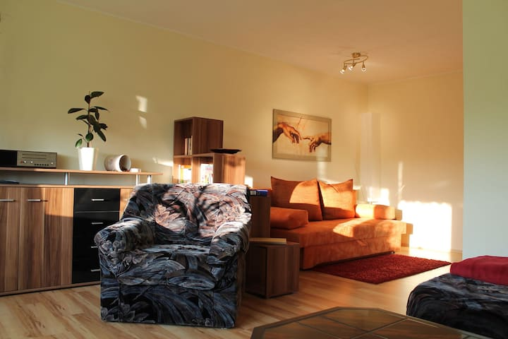 Spacious two-room apartment with petting zoo