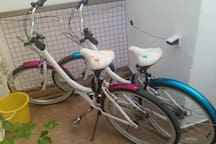 2 beach bikes are included to travel the cost line and explore TLV