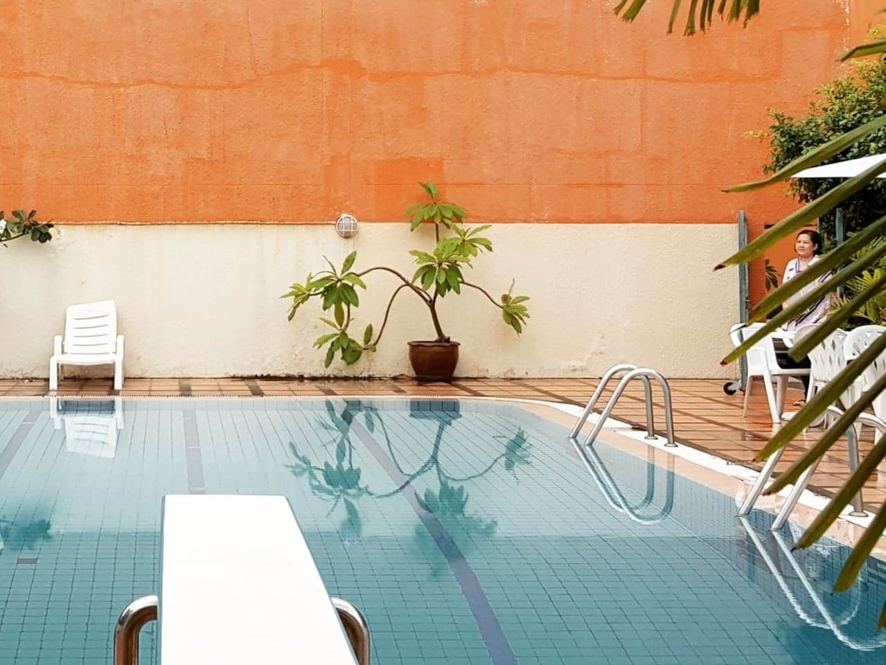 Shared pool in a private residential area.
