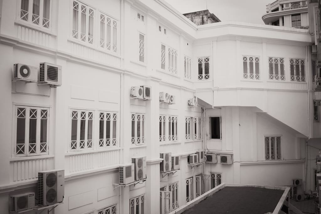 The white building is one of a few French colonial-style hotels lying in the heart of Hanoi