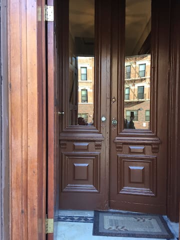 Amazing double front doors full of character and appearl