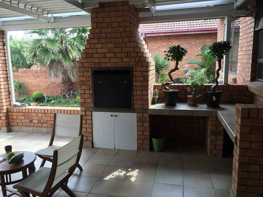 Large balcony equiped with Gas Braai facility