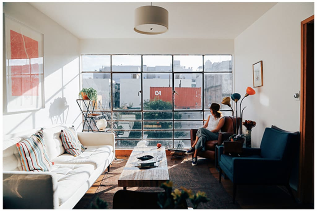 Foto of our apartment featured Lauren Conrad's blog - The Complete Travel Guide to Mexico City