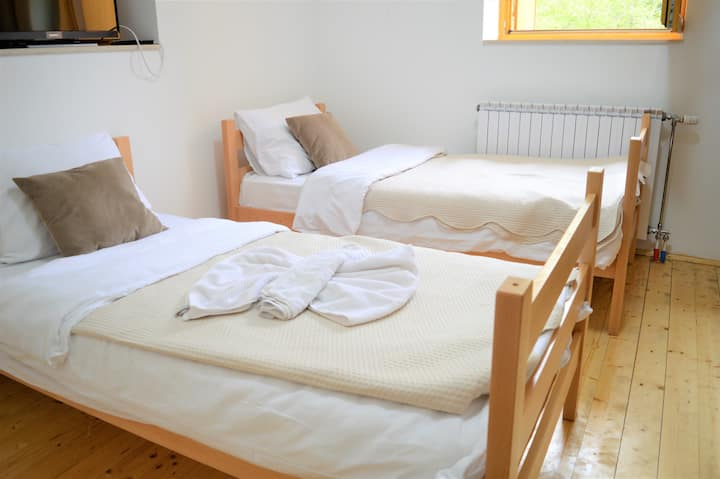 Mountain twin room in Korab Trnica Resort