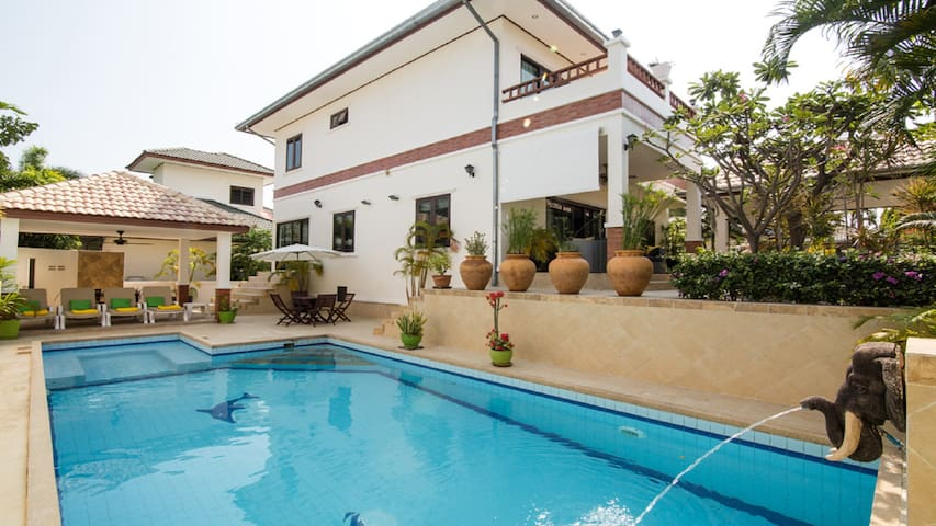 Luxury villa with salt water pool.