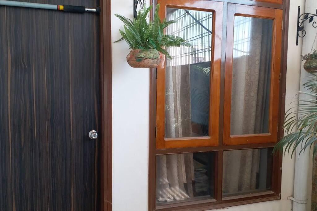 Another door and window of the room