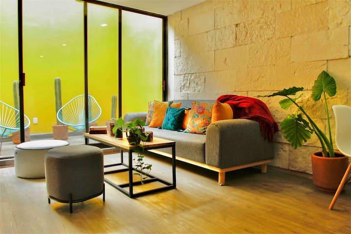 ROMA Norte Beautiful apartment & private terrace