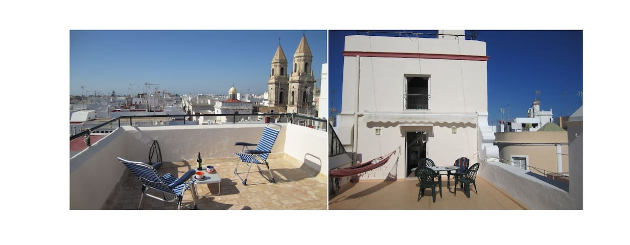 Charming duplex attic in Cádiz historic center - Cádiz - Hus