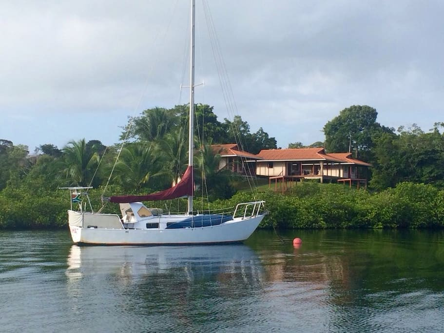 Two moorings also available for any of our water travelers. Contact us for a mooring/room combo deal!