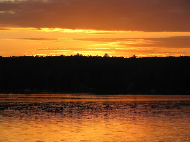 Delightful sunsets over the lake