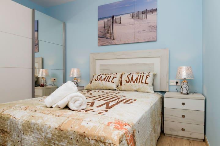 Dormitorio 2 individual 1 persona con cama 1,35 mts