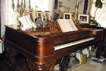1859 box grand piano in the music room & library