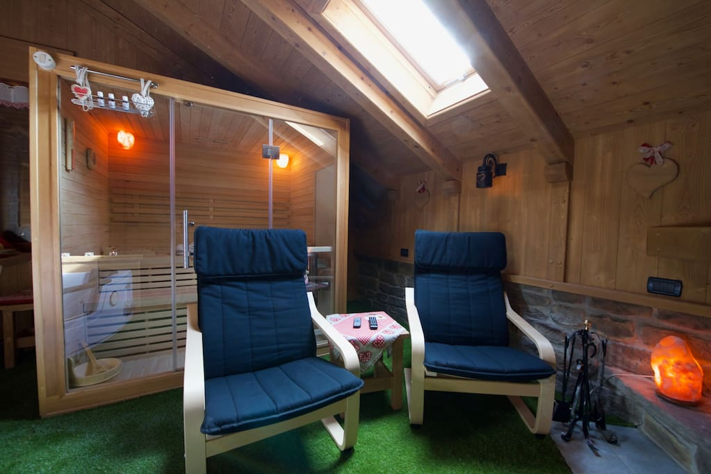 The Sauna with relaxing chairs