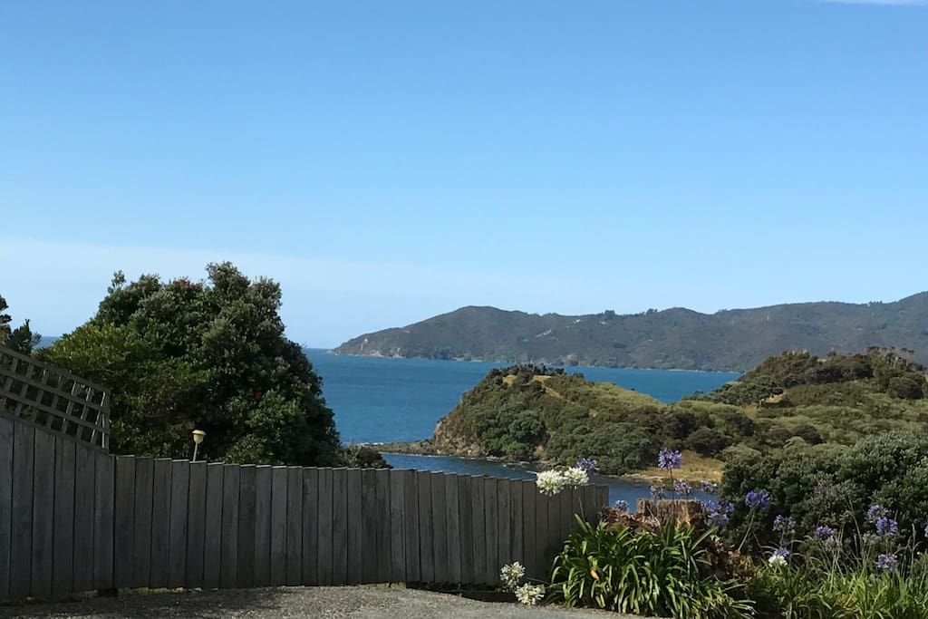 The View from the entrance of the cove.