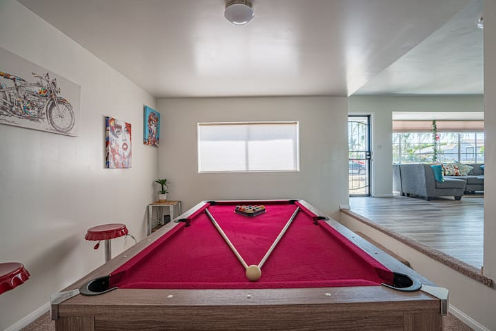 Enjoy a round of pool with those closest to you.