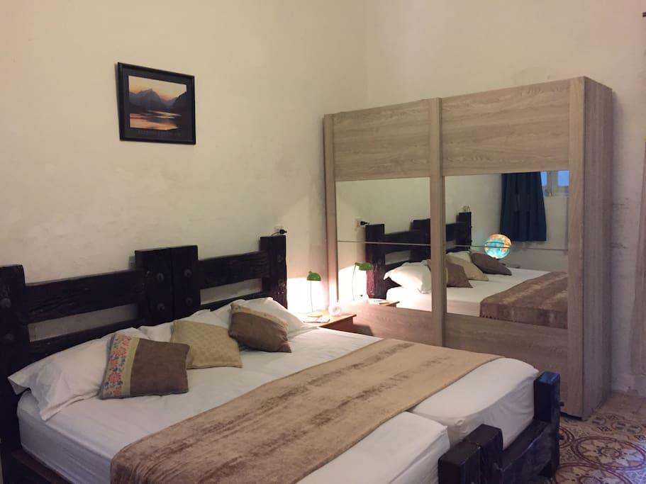 Airy spacious quiet private bedroom