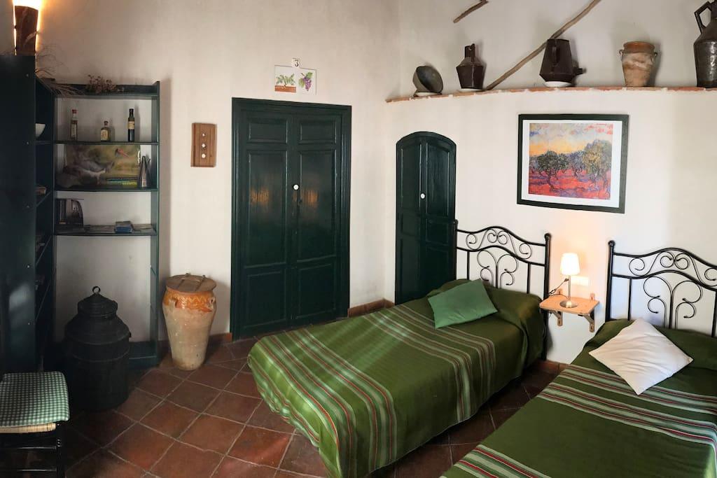 Habitación del olivo - aceite
