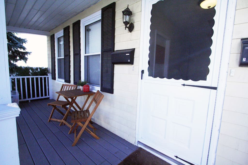 Front porch: Welcome!