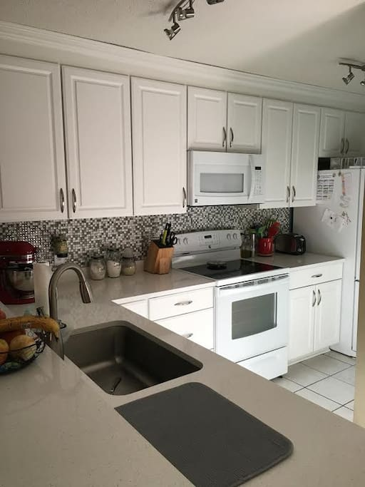 Brand new kitchen with new appliances.