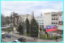 Вид из окна на гимназию им.А.С.Пушкина