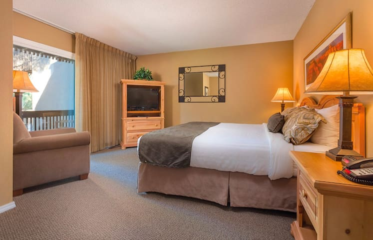 Have your best-sleep-ever on the luxurious king-sized bed in the master bedroom