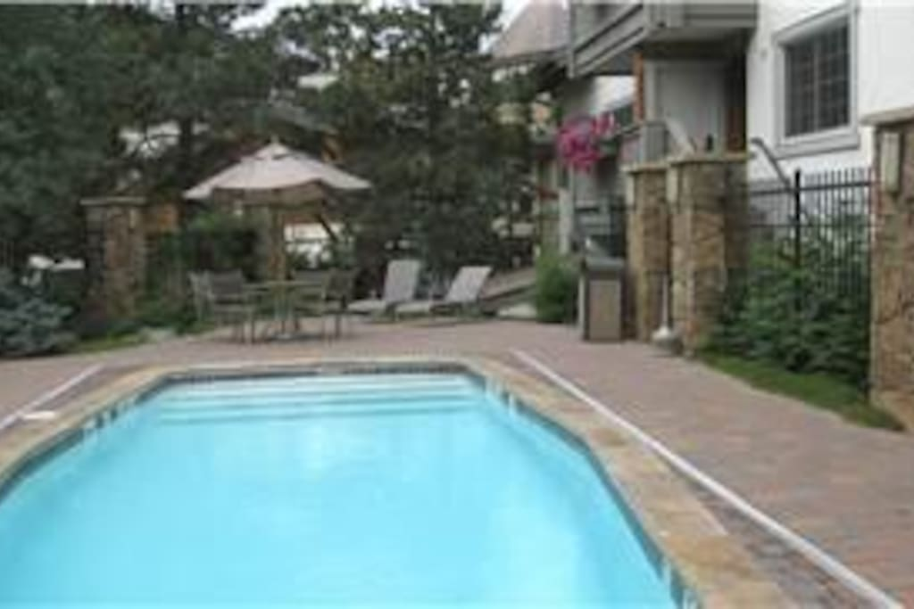 Outdoor year round pool and spa