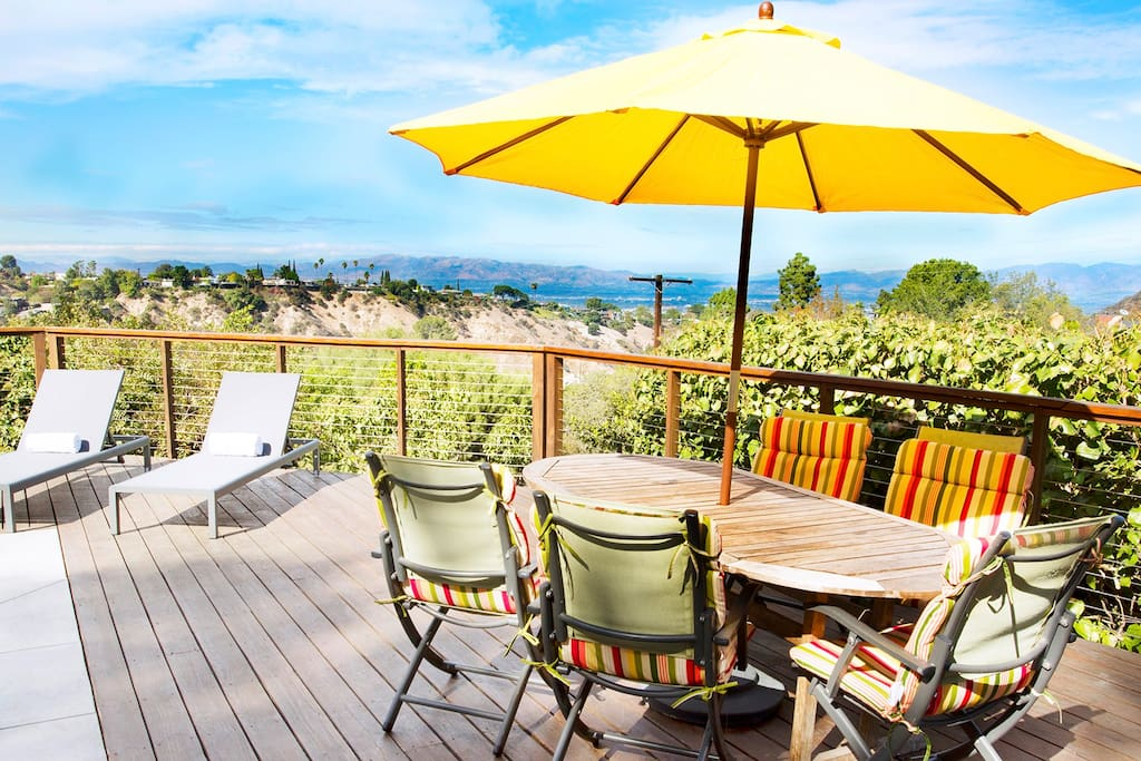 Gorgeous views await with outdoor dining
